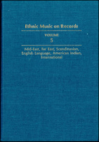 Ethnic Music on Records - Cover
