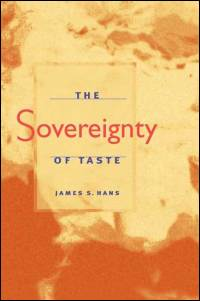 The Sovereignty of Taste - Cover