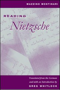 Cover for MONTINARI: Reading Nietzsche. Click for larger image