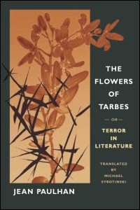 Cover for PAULHAN: The Flowers of Tarbes: or, Terror in Literature. Click for larger image