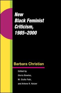 New Black Feminist Criticism, 1985-2000 - Cover