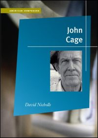 Cover for Nicholls: John Cage. Click for larger image