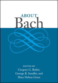 Cover for Butler: About Bach. Click for larger image