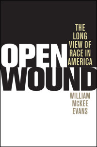 Cover for Evans: Open Wound: The Long View of Race in America. Click for larger image