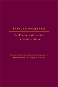 Cover for galeazzi: The Theoretical-Practical Elements of Music, Parts III and IV. Click for larger image
