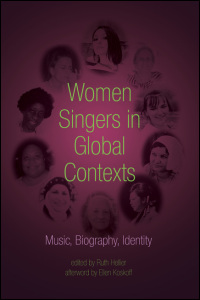 Cover for hellier: Women Singers in Global Contexts: Music, Biography, Identity. Click for larger image