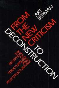 From the New Criticism to Deconstruction - Cover