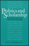 link to catalog page, Politics and Scholarship