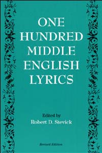 Cover for STEVICK: One Hundred Middle English Lyrics