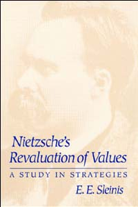 Cover for SLEINIS: Nietzsche's Revaluation of Values: A Study in Strategies