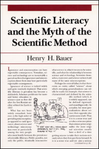 Cover for BAUER: Scientific Literacy and the Myth of the Scientific Method. Click for larger image