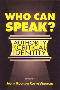 Cover for ROOF: Who Can Speak?: Authority and Critical Identity