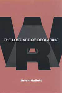 Cover for HALLETT: The Lost Art of Declaring War