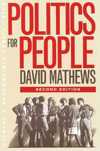 Cover for MATHEWS: Politics for People: Finding a Responsible Public Voice
