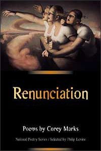 Cover for MARKS: Renunciation: Poems