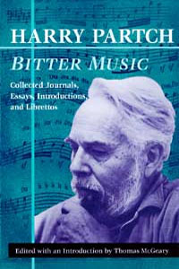 Cover for PARTCH: Bitter Music: Collected Journals, Essays, Introductions, and Librettos