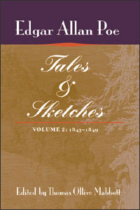 Cover for POE: Tales and Sketches, vol. 2: 1843-1849