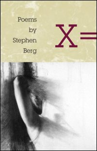 Cover for BERG: X =: Poems. Click for larger image