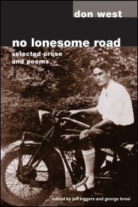 Cover for WEST: No Lonesome Road: Selected Prose and Poems. Click for larger image