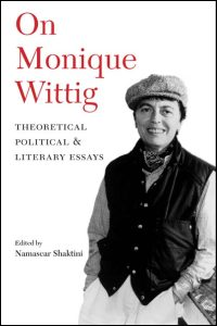 On Monique Wittig - Cover
