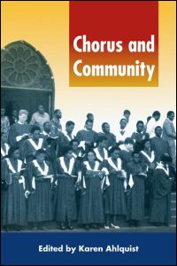 Cover for AHLQUIST: Chorus and Community. Click for larger image
