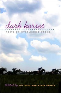 Cover for Katz: Dark Horses: Poets on Overlooked Poems. Click for larger image