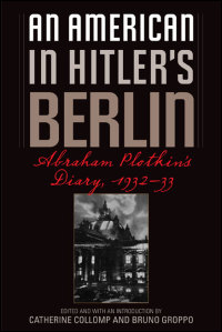 An American in Hitler's  Berlin - Cover