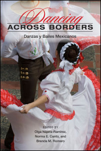 Cover for Najera-Ramirez: Dancing across Borders: Danzas y Bailes Mexicanos. Click for larger image