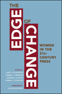 Cover for Nicholson: The Edge of Change: Women in the Twenty-First-Century Press. Click for larger image