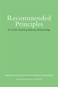 Cover for American: Recommended Principles to Guide Academy-Industry Relationships. Click for larger image