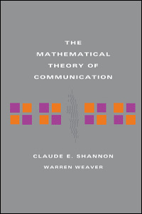 Cover for SHANNON: The Mathematical Theory of Communication. Click for larger image