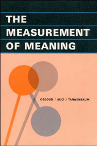 Cover for OSGOOD: The Measurement of Meaning