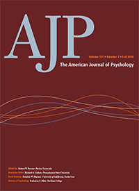 Cover for American Journal of Psychology