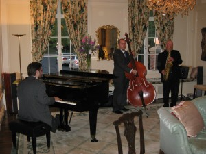 Cool jazz in the drawing room.