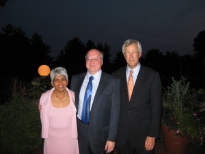 Dr. Meena Rao, Press Director Dr. Bill Regier, President Joe White.