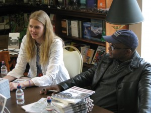 Oni Buchanan and Tyehimba Jess at the Illini Union Bookstore