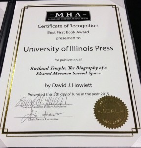 MHA Best First Book Award