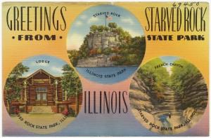 starved rock postcard